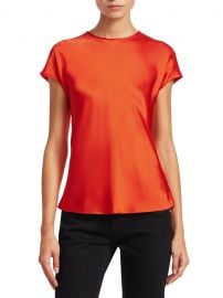 Double Satin Cap-Sleeve Top by Helmut Lang at Saks Off 5th