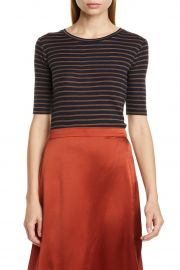 Double Stripe Crew Neck T-Shirt by Vince at Nordstrom Rack