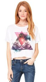 Double Trouble Galaxy Tigers Boxy Tee at Royal Rabbit