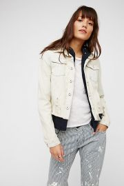Double Weave Denim Jacket by Free People at Freepeople
