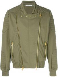 Double Zip Bomber Jacket by Pierre Balmain at Farfetch