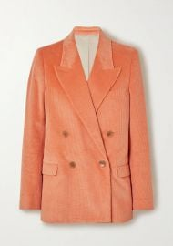 Double-breasted cotton-blend corduroy blazer at Net A Porter