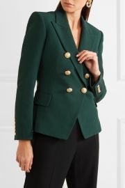 Double-breasted crepe blazer at Net A Porter