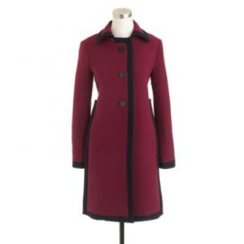 Double-cloth tipped coat at J. Crew