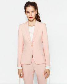 Double crepe blazer at Zara