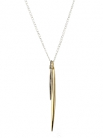 Double spike necklace by Peggy Li at Peggy Li