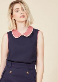 Doubly Delightful Sleeveless Top at ModCloth