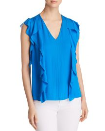 Dovie Ruffled Silk Top at Bloomingdales