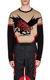 Dragon-Motif Wool-Blend Sweater at Barneys