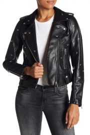 Dragonfly Stud Moto Faux Leather Jacket at Nordstrom Rack