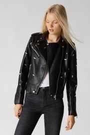 Dragonfly Vegan Leather Jacket at BlankNYC