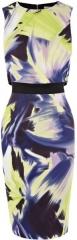 Dramatic print dress at Karen Millen