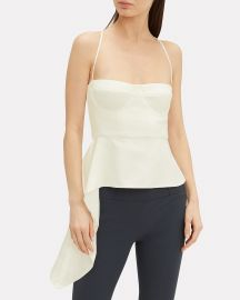 Drape Accent Bustier Suiting Top by Michelle Mason at Intermix
