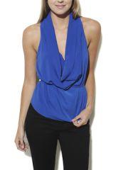 Drape neck blouse at Arden B