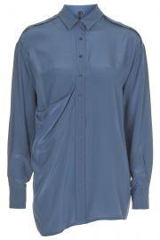 Drape pocket silk shirt at Topshop