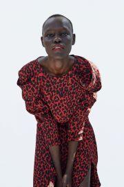 Draped Animal Print Blouse by Zara at Zara