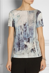 Draped Back Printed Top at Net A Porter