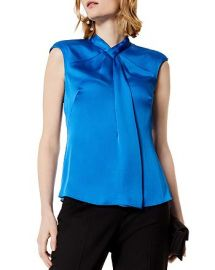 Draped Cap Sleeve Top by Karen Millen at Bloomingdales