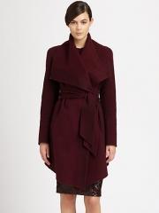 Draped coat by Donna Karan at Saks Fifth Avenue