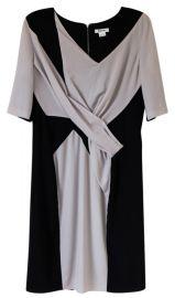 Draped colorblock dress at Helmut Lang