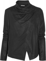 Draped leather jacket by Vince at The Outnet