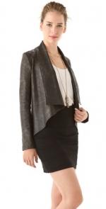 Draped leather jacket like Juliettes at Shopbop