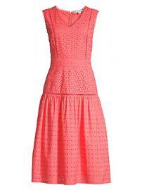 Draper James - Cotton Eyelet Midi Dress at Saks Fifth Avenue