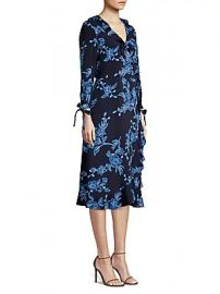 Draper James - Shadow Floral Wrap Dress at Saks Off 5th