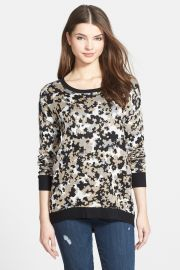 Drapey Camo Sweater at Nordstrom Rack