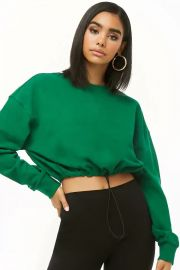 Drawstring-Hem Pullover at Forever 21