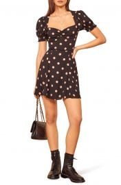 Drea Sweetheart Neckline Crepe Minidress at Nordstrom