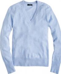 Dream V Neck Sweater in blue at J. Crew