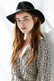 Dreamer Jute Nubby Panama Hat in Black at Urban Outfitters