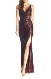 Dress the Population Jordan Ruched Mermaid Gown   Nordstrom at Nordstrom