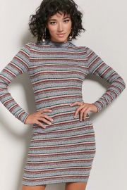 Dress: Marled Ribbed Knit Striped Dress by Forever 21 at Forever 21