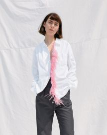 Dress Shirt with Pink Feather Detail at One DNA