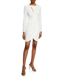 Dress The Population Colby Crepe Grecian-Knot Dress at Neiman Marcus