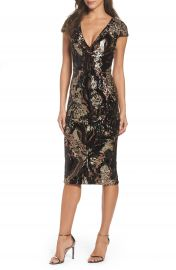 Dress the Population Allison Sequin Velvet Body-Con Dress  Nordstrom Exclusive at Nordstrom