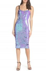 Dress the Population Lynda Iridescent Sequin Sheath Dress  Nordstrom Exclusive    Nordstrom at Nordstrom