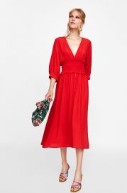 Dress with Elastic Waistband by Zara at Zara