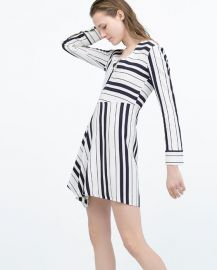 Dress with Seamed Skirt at Zara