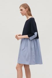Dress with layered skrit at Cos