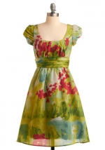 Dress with the same print at Modcloth