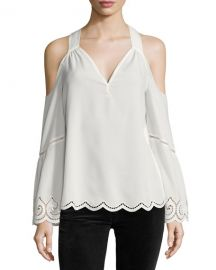 Drew Cold-Shoulder Lace-Trim Top at Last Call