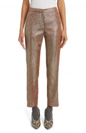 Dries Van Noten Poumas Metallic Ankle Trousers   Nordstrom at Nordstrom