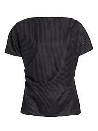 Dries Van Noten - Short-Sleeve Wool Pinstripe Top at Saks Fifth Avenue