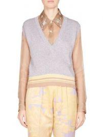 Dries Van Noten - Sleeveless Metallic Knit Pullover at Saks Fifth Avenue