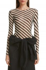 Dries Van Noten Heston Bias Stripe Top   Nordstrom at Nordstrom