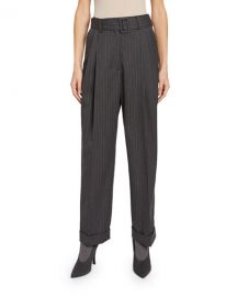 Dries Van Noten Pleated Cuffed Pants at Neiman Marcus