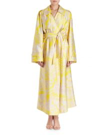 Dries Van Noten Ronchi Oversized Floral-Print Trench Coat   Neiman at Neiman Marcus